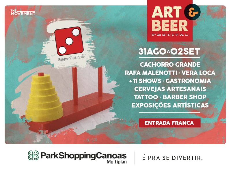 Sisper Design no Art & Beer Canoas